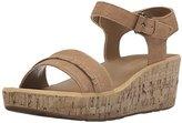 Rockport Women's Weekend Lanea Fringe Quarter Strap Platform Sandal