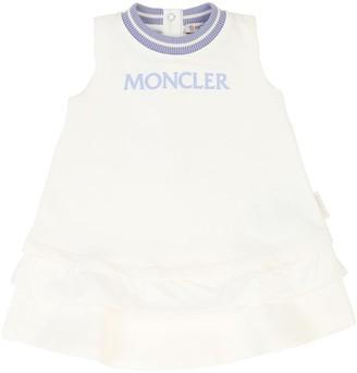 Moncler Logo Cotton Sweat Dress