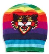 Gucci Multicolor Angry Cat Wool Beanie