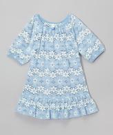 Mulberribush Blue Floral Lace - Toddler & Girls