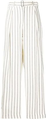 Emporio Armani High Waisted Striped Trousers