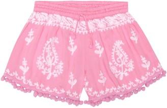 Melissa Odabash Kids Sienna embroidered shorts