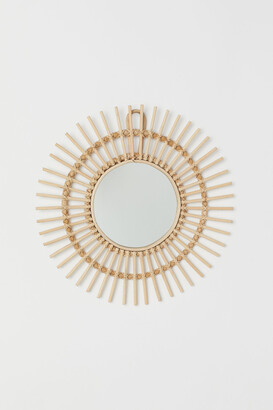 H&M Mirror with Rattan Frame
