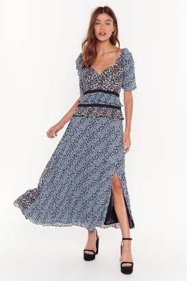 Nasty Gal Womens Growin' Out Tonight Floral Maxi Dress - blue - 4