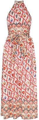 Mary Katrantzou Positano-print halterneck maxi dress