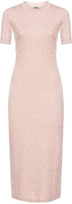 Fendi FF Knitted Midi Dress