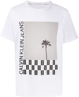 Calvin Klein Jeans photograph-print cotton T-shirt