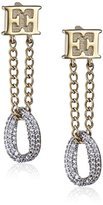 Escada Gold Plated with Cubic Zirconia Drop Earrings
