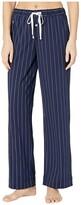 Lauren Ralph Lauren Cotton Polyester Jersey Separate Long Pants (Pink Stripe) Women's Pajama