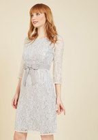 Appareline Inc Defined to Refine Lace Dress in Silver