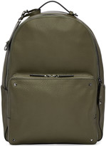 Valentino Green Leather Rockstud Backpack
