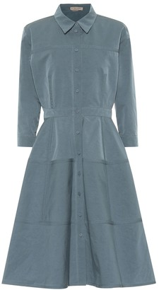 Bottega Veneta Cotton and silk-blend dress