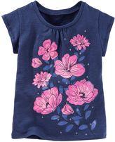 Osh Kosh Girls 4-8 Floral Graphic Tee