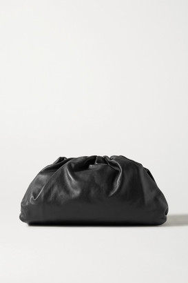 Bottega Veneta The Pouch Large Gathered Leather Clutch - Black