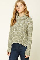 Forever 21 FOREVER 21+ Cable Knit Cowl Neck Sweater