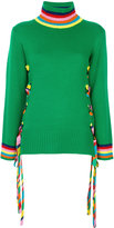 Mira Mikati Wool Ribbon And Eyelet Turtleneck Sweater