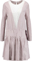 See by Chloe Striped cotton-poplin and cotton-voile dress