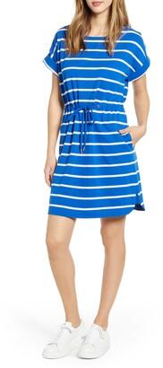 Tommy Bahama Sombra Stripe Tie Waist Dress