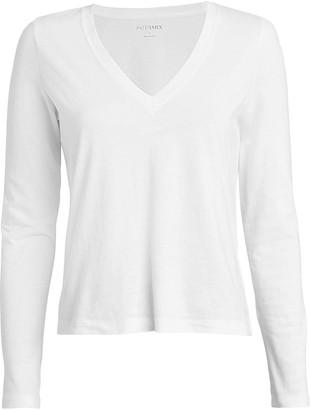 Intermix Classic Long Sleeve V-Neck T-Shirt