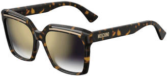 Moschino Square Cutout Acetate Sunglasses