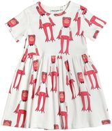 Mini Rodini Frog Print Organic Cotton Jersey Dress