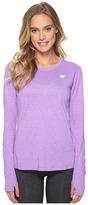 New Balance Heathered Long Sleeve Shirt Women's Long Sleeve Pullover