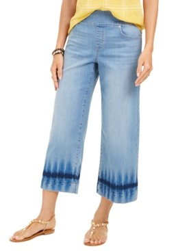 Style&Co. Style & Co Dyed Wide-Leg Cropped Jeans, Created for Macy's
