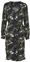Selected Slfdynella Leaf Print Dress - Green / DK24-UK8