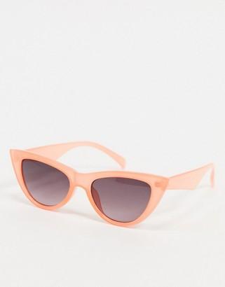 A. J. Morgan AJ Morgan Sling cat eye sunglasses in peach