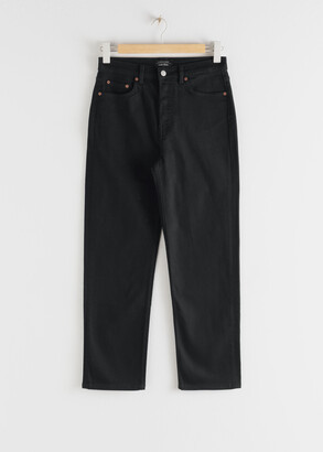 And other stories Straight High Rise Stretch Jeans