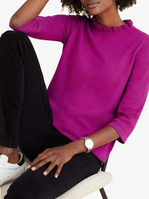 Pure Collection Ruffle Neck Sweater