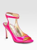Emilie Patent Ankle-Strap Sandals