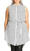 City Chic Plus Size Women's 'Lunch Date' Tunic