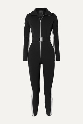 Cordova Striped Ski Suit - Black