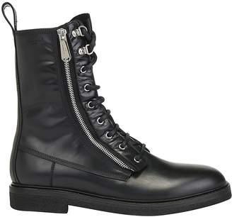 Balmain Zipped Lace-Up Boots