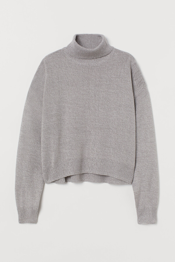 H&M Knitted polo-neck jumper