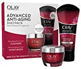 Olay Regenerist Advanced Anti-Aging Pore Scrub Cleanser (5.0 Oz) and Micro-Sculpting Face Moisturizer Cream (1.7 Oz) Skin Care Duo Pack, Total 6.7 Ounces