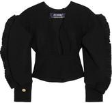 Jacquemus Le Haut Espagne Ruffled Wool Top - Black