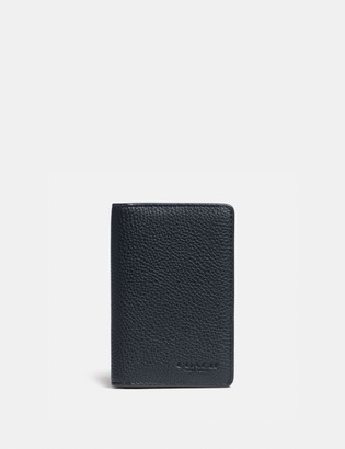 Coach Card Wallet With Signature Canvas Interior