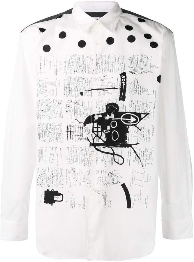 Comme des Garcons X JEAN MICHEL BASQUIAT sketch print shirt