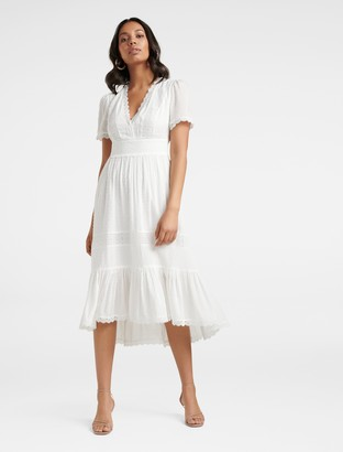 Ever New Margot Spliced Midi Dress