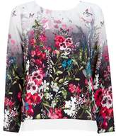 Wallis Petite Floral Print Long Sleeve Layered Top