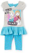Children's Apparel Network Frozen Elsa & Anna 'Follow Your Heart' Tee & Leggings - Toddler