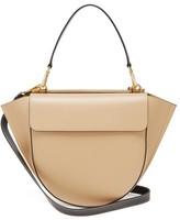 Wandler Hortensia Medium Leather Cross-body Bag - Womens - Beige Multi