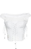 Dolce & Gabbana Cotton Poplin Off-the-Shoulder Corset Top
