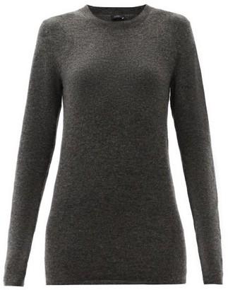 Joseph Longline Melange Sweater - Dark Grey