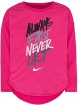 Nike Girls 4-6x Dri-FIT Curved High-Low Tee