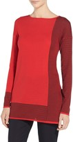 St. John Jersey Knit Drop Shoulder Tunic