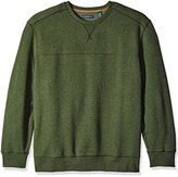 G.H. Bass Men's Big and Tall Mountain Long Sleeve Fleece Crew Sweater
