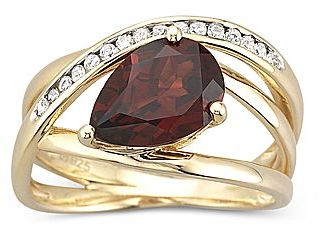 JCPenney Diamond-Accent Genuine Garnet Ring